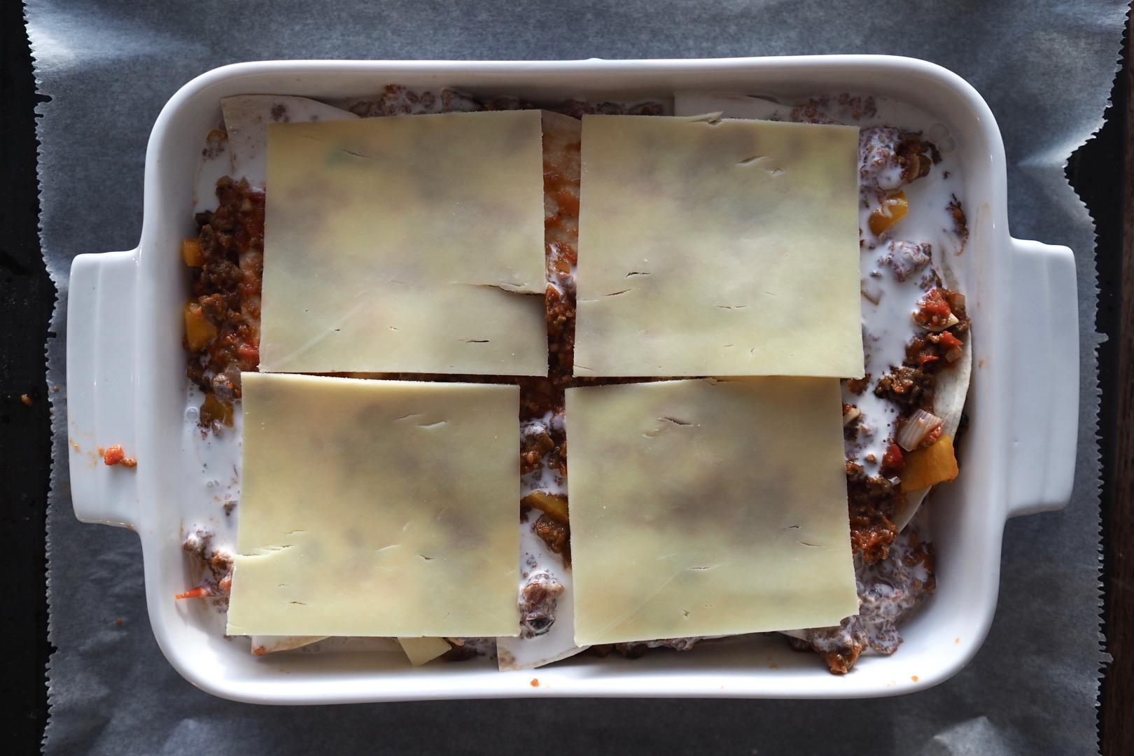 härkis tortilla lasagne